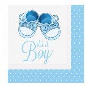 Mavi Patikler Temalı Its A Boy Peçete 20 Adet...