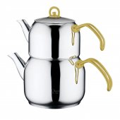 Orient By Aryıldız Çelik Çaydanlık Gold