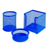 Bigpoint Metal Perfore 3lü Set Mavi