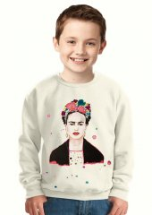 Tshirthane Frida Kahlo Çocuk Sweatshirt
