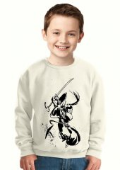 Tshirthane Samurai Jack Samuray Çocuk Sweatshirt
