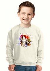 Tshirthane Howling Wolf Colors Paint Çocuk...