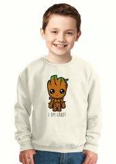 Tshirthane I Am Groot Çocuk Sweatshirt