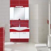 Biani İznik 100 Cm Parlak Kırmızı Banyo Dolabı