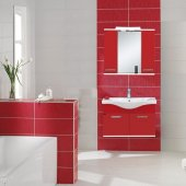 Biani Hisar 80 Cm Akrilik Kırmızı Banyo Dolabı