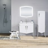 Bagnoli Versailles Banyo Boy Dolabı Gümüş Renk