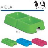 Mp Viola İkili Kedi Köpek Mama Ve Su Kabı 300 + 300 Ml