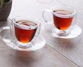 2' Li Çift Cidarlı Kulplu Çay Fincanı,çift Katmanlı Fincan Seti ,çift Katlı Çay Fincanı