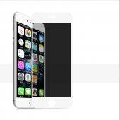 Apple İphone 8 Plus Olix Kor Privacy Gizlilik Filtreli Hayalet Ekran Koruyucu Cam Beyaz