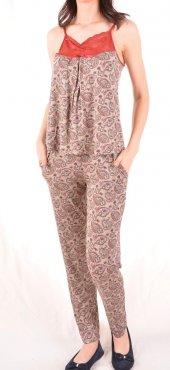 Kadın Pijama Takım Sabahlık Üçlü Takım-2