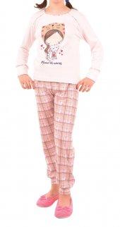 Kız Çocuk Pijama Takımı Uzun Kollu İnterlok