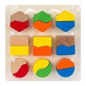 Hongji Ahşap Geometrik Şekilli Bloklar 18 Parça