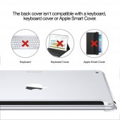 iPad 9.7 2017 2018 Kılıf, ESR Yippee Shell, Clear-12