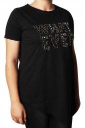 Petrol Kadın Bisiklet Yaka T Shirt 4457