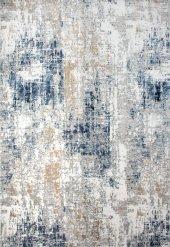 Mavi Beyaz Vizon Modern İnce Modern Halı Hs97033e