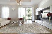 Gri Çizgili Modern Oturma Odası Halısı - HS9451T-6