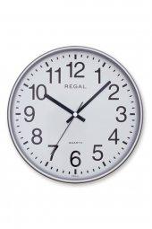 Regal 0252 Sw Yuvarlak 26 Cm Gümüş Çerç, Duvar Saati