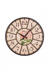 Regal Ultima 2059 2 Ferforje Küçük Boy Pembe Çiçekli Duvar Saati