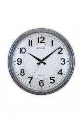 Regal 9105 Sı Gümüş Renk Metalize Yuvarlak Duvar Saati