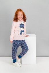 Roly Poly Kız Çocuk Pijama Takımı Pembemelanj 1580 G