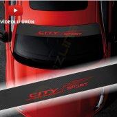 Erzline Honda City Karbon Ön Cam Oto Sticker