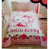 Taç Hello Kitty Lisanslı Battaniye Tek Kişilik...