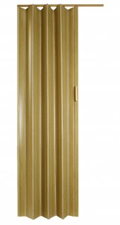 Ince Akordiyon Kapı Meşe 85x203 Pvc Katlanır Kapı 0,6mm Kalınlıkta