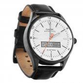 Dark Smart Time Beyaz Kadran Siyah Deri Kayışlı Klasik Akıllı Saat (Dk Ac Swt4202)