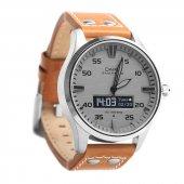 Dark Smart Time Gri Kadran Kahve Deri Spor Kayışlı Klasik Akıllı Saat (Dk Ac Swt4401)