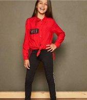 Yes Kırmızı Kız Çocuk Gömlek