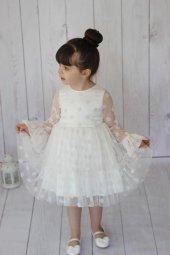 White Points Dress Kız Çocuk Abiye