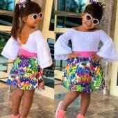 Grafitti Fashion Kız Çocuk Etekli Takım
