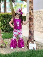 Kız Çocuk Fuşya Lol Baby İspanyol Taytlı Takım