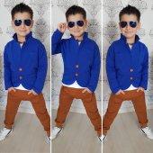 Blue Brown Erkek Çocuk 3lü Alt Üst Takım