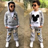 Gri Mickey Erkek Çocuk Eşofman Takımı