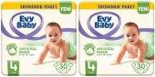 Evy Baby 4 Numara 30*2 60 Adet Bebek Bezi 7 14 Kg