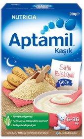 Aptamil Sütlü Bisküvili Gece Kaşık Maması 250 Gr.