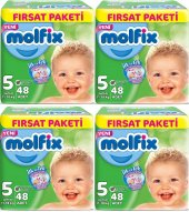 Molfix Fırsat Paketi 5 Numara 48*4 192 Adet Bebek Bezi 11 18 Kg