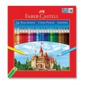 Faber Castell Karton Kutu Boya Kalemi 24 Renk