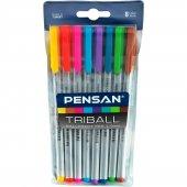Pensan Tükenmez Trıball 1mm Renkli 8 Li Set...