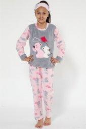 Akbeniz Well Soft Kız Çocuk Pijama Takımı 4522...