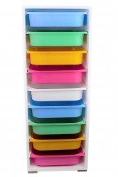 9 Sepetli Renkli Çok Amaçlı Dolap Mutfak Dolabı...