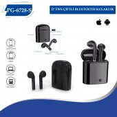 (Pg 6728 S) İ7 Tws Çiftli Bluetooth Kulaklık Beyaz