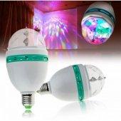 Disco Ampül Led Işıklı Döner Başlıklı Duy Hediyeli