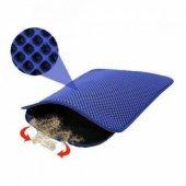 Elekli Kedi Tuvaleti Önü Paspası Mavi