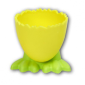 4 Adet Birden Plastik Eğlenceli Ayaklı Yumurta Takımı Asorti