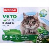 Beaphar Veto Bio Spot On Drops Kedi Pire...