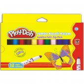 Play Doh 12 Renk Jumbo Keçeli Kalem 8 Mm