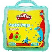 Play Doh 24 Renk Plastik Çantalı Pastel Boya