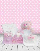 Yeni Doğan Hoş Geldin Bebek Hediyesi 5 Li Çitli Set (Kız)